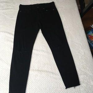 Banana Republic Black Distressed Skinny Jeans